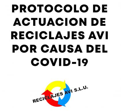 Protocolo de actuación de Reciclajes AVI por causa del Covid-19